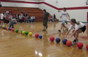 Dodgeball in the Gym